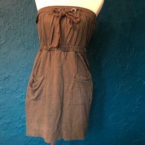 Banana Republic strapless brown knit dress